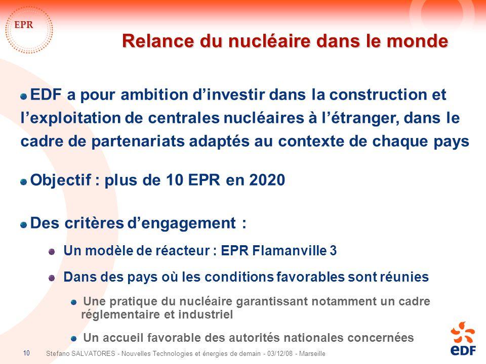 Relance du nucléaire dans le monde