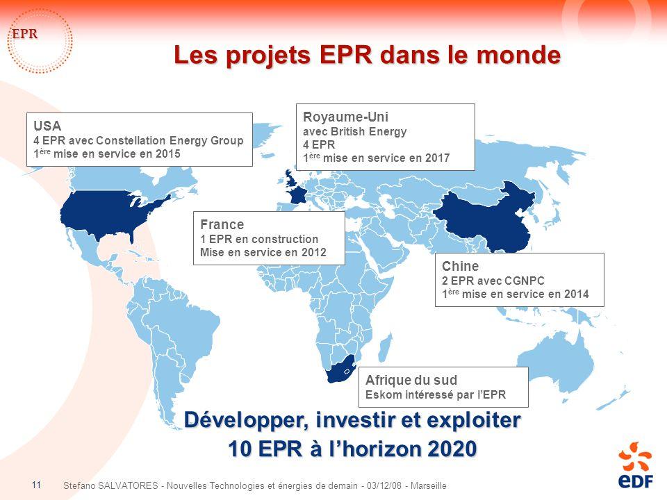 Les projets EPR dans le monde