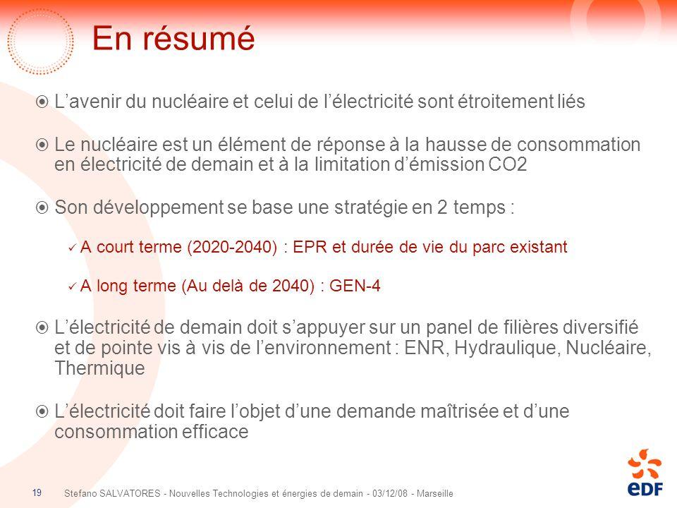 En résumé L'avenir du nucléaire et celui de l'électricité sont étroitement liés.