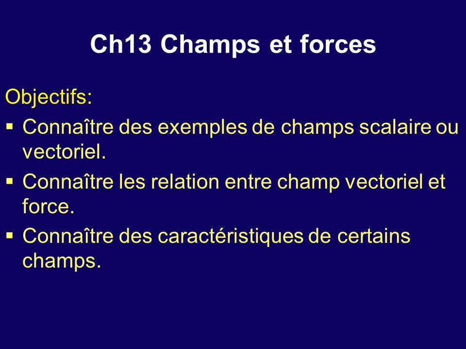 Ch13 Champs et forces Objectifs: