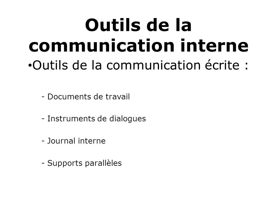 Célèbre Communication Interne - ppt video online télécharger TO53
