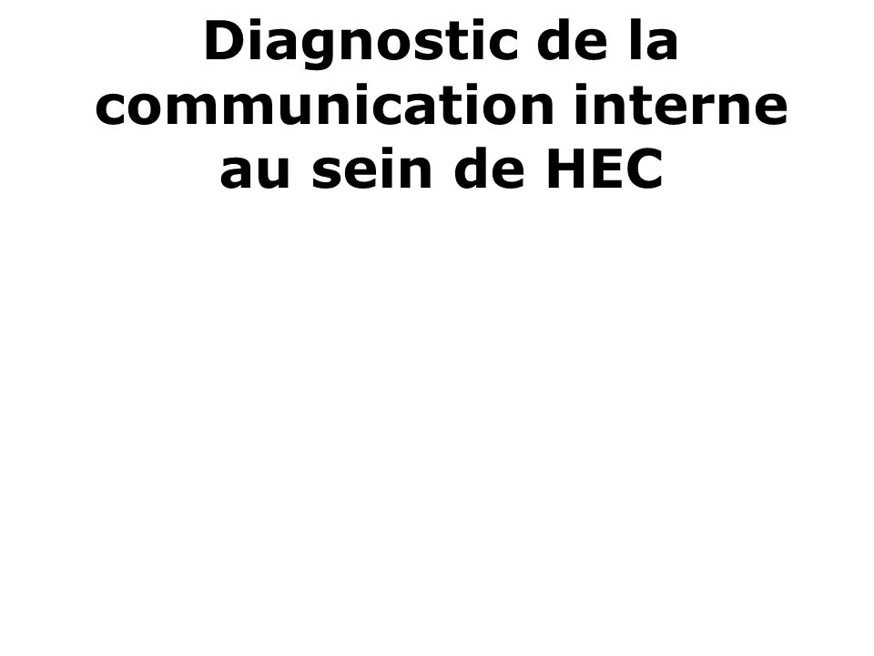 Diagnostic de la communication interne au sein de HEC