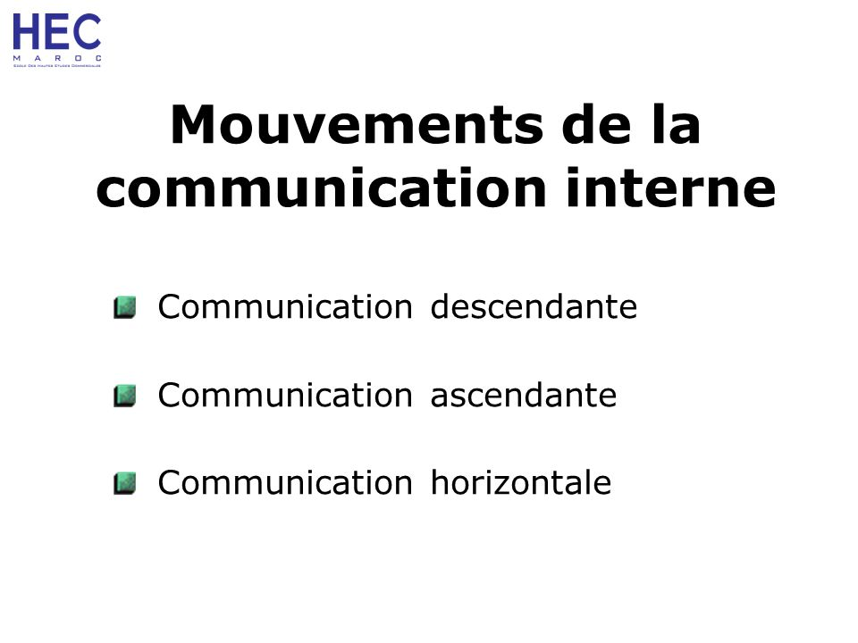 Mouvements de la communication interne