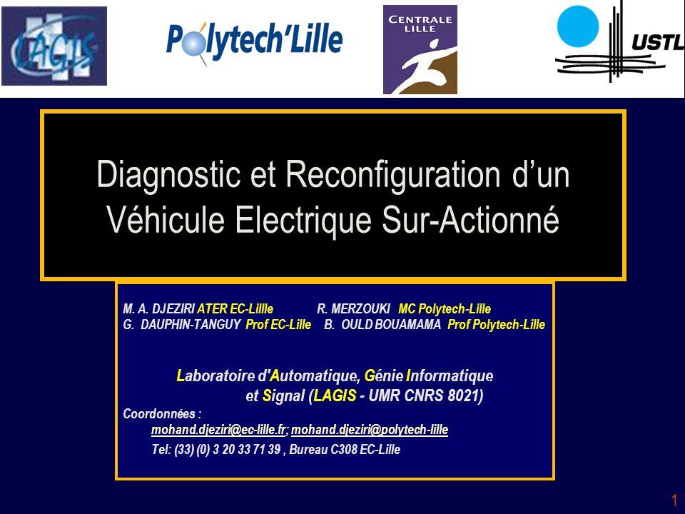 Diagnostic et Reconfiguration d'un Véhicule Electrique Sur-Actionné