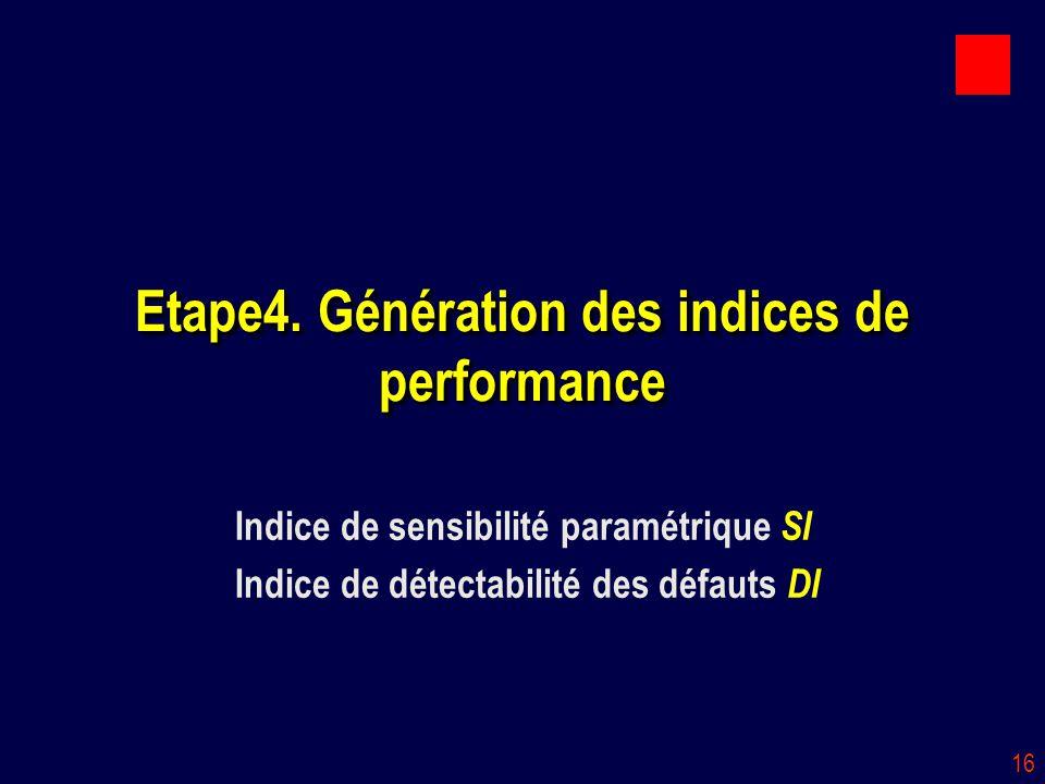 Etape4. Génération des indices de performance