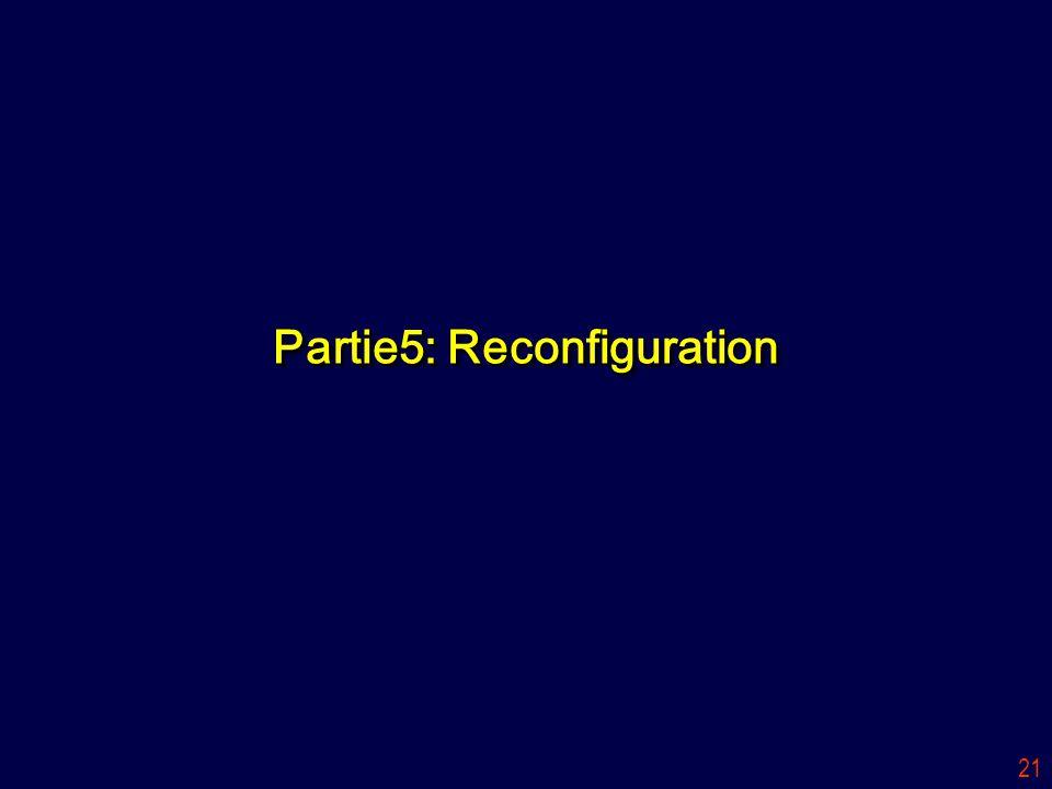 Partie5: Reconfiguration
