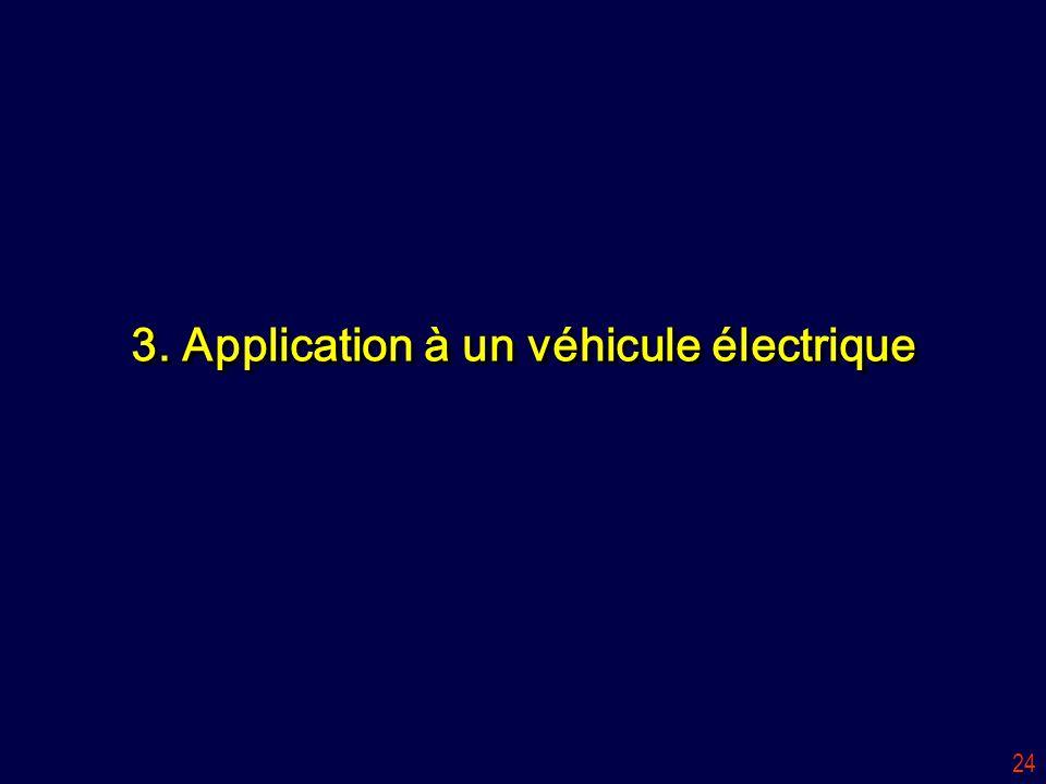3. Application à un véhicule électrique