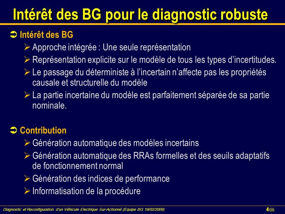 Intérêt des BG pour le diagnostic robuste