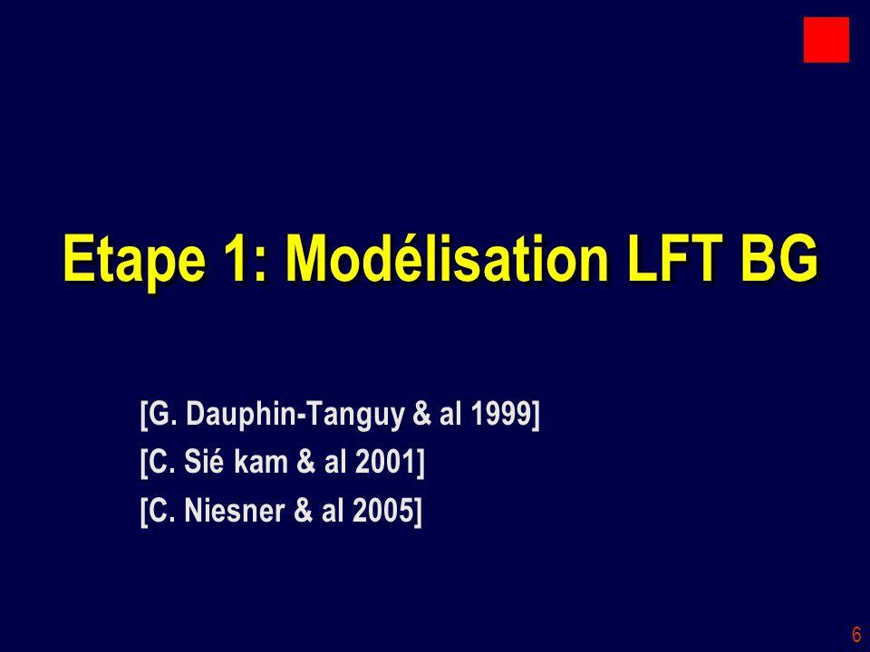 Etape 1: Modélisation LFT BG