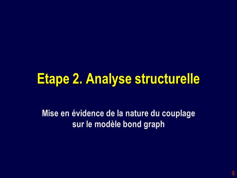 Etape 2. Analyse structurelle