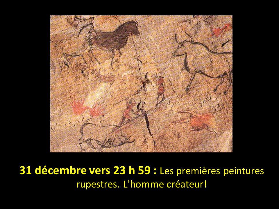 31 décembre vers 23 h 59 : Les premières peintures rupestres
