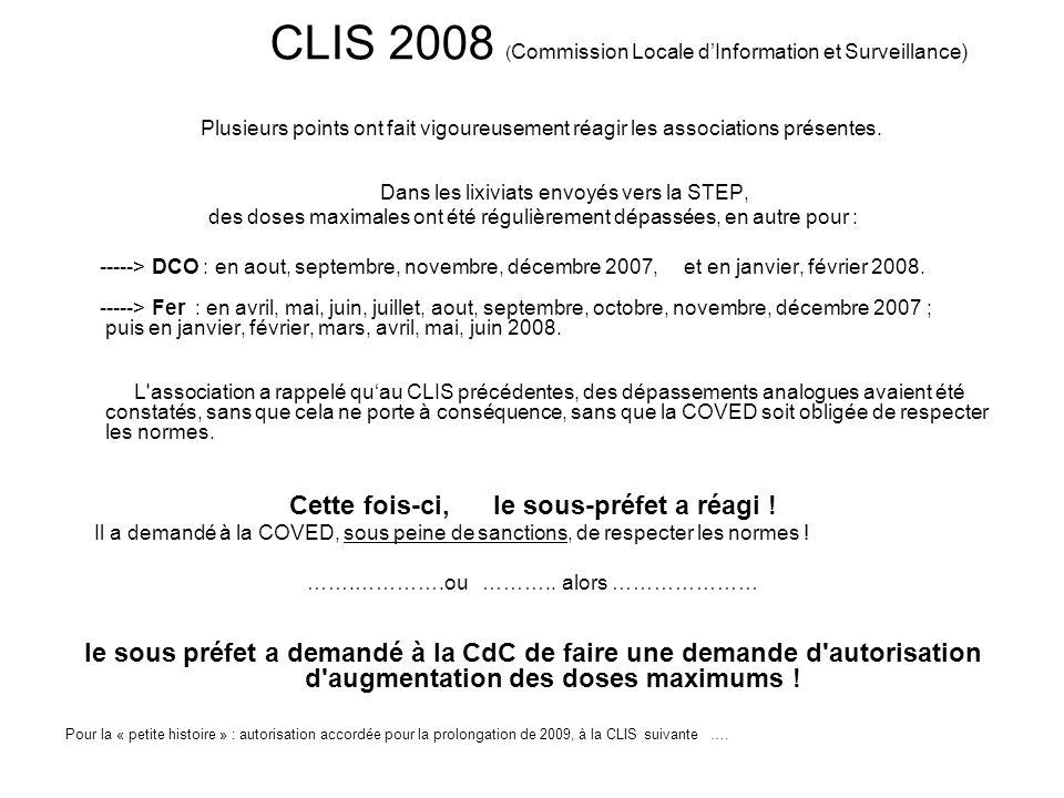 CLIS 2008 (Commission Locale d'Information et Surveillance)