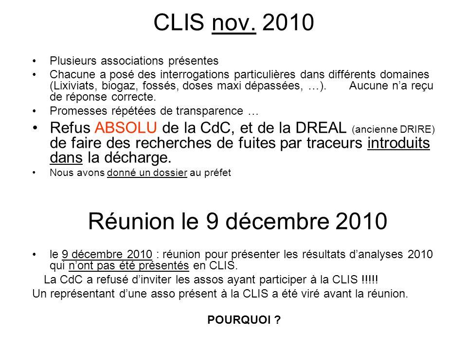 CLIS nov. 2010 Réunion le 9 décembre 2010