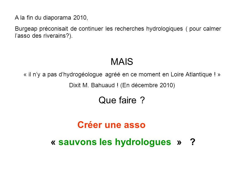 « sauvons les hydrologues »