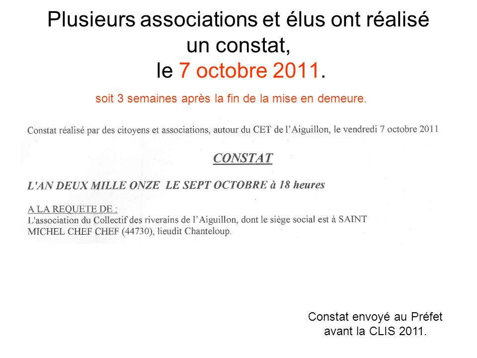 Plusieurs associations et élus ont réalisé un constat, le 7 octobre 2011.