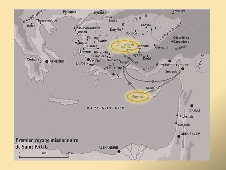 D'après les Actes 13, c'est vers 44 que Paul et Barnabé sont envoyés par la communauté d'Antioche de Syrie à Chypre porter la BN. Des liens (échanges commerciaux) unissent les 2 villes, Barnabé est chypriote ( de Salamine) donc des conditions favorables sont réunies.