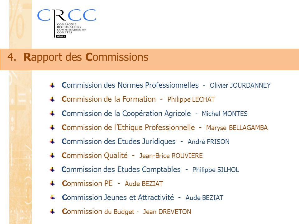 4. Rapport des Commissions