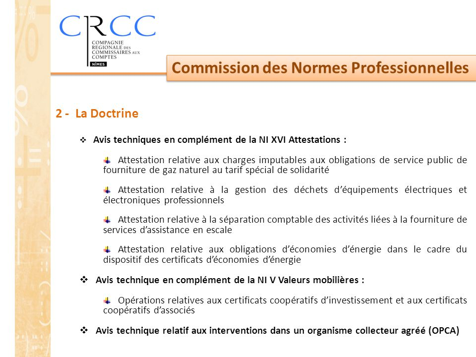 Commission des Normes Professionnelles