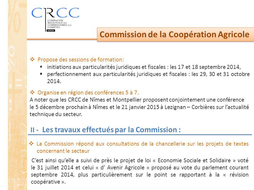 II - Les travaux effectués par la Commission :