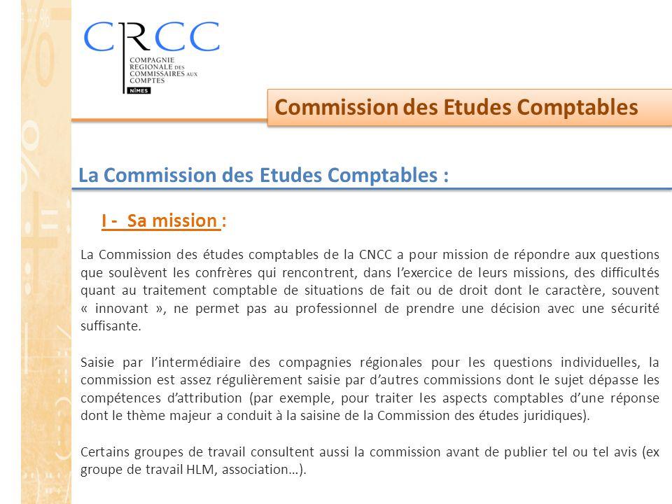 La Commission des Etudes Comptables :
