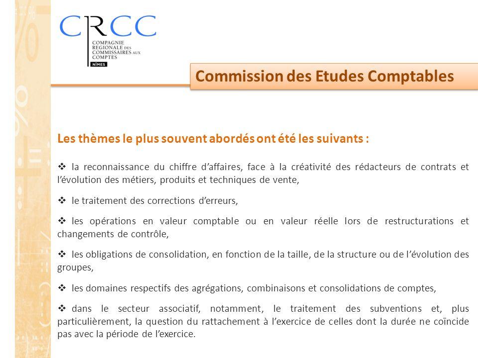 Commission des Etudes Comptables