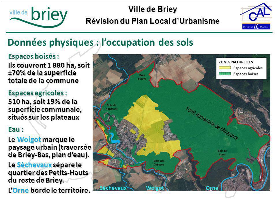 Données physiques : l'occupation des sols