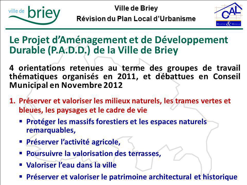 Le Projet d'Aménagement et de Développement Durable (P. A. D. D