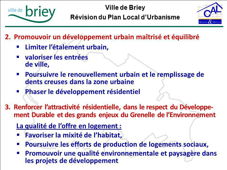 Promouvoir un développement urbain maîtrisé et équilibré