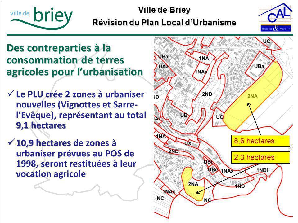Des contreparties à la consommation de terres agricoles pour l'urbanisation
