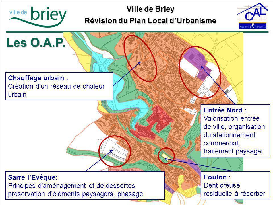 Les O.A.P. Chauffage urbain : Création d'un réseau de chaleur urbain