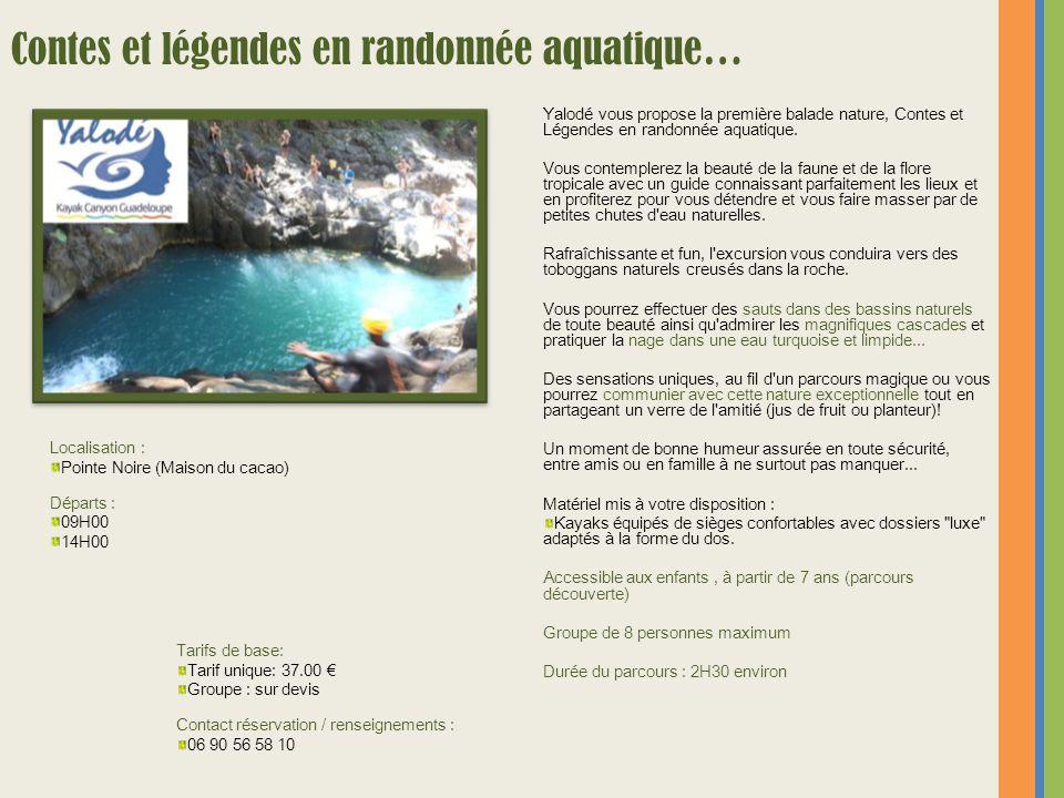 Contes et légendes en randonnée aquatique…