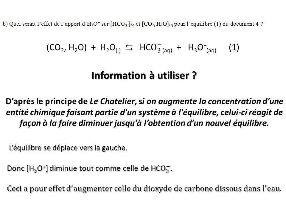 Information à utiliser