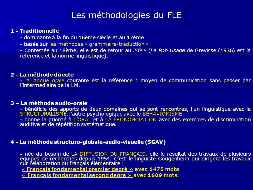 Les méthodologies du FLE