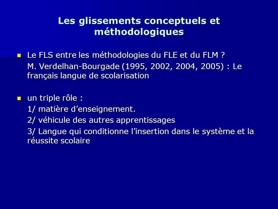 Les glissements conceptuels et méthodologiques