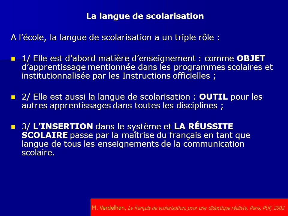 La langue de scolarisation