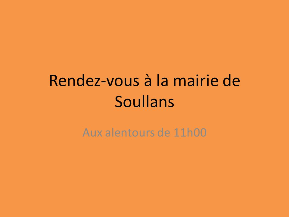 Rendez-vous à la mairie de Soullans
