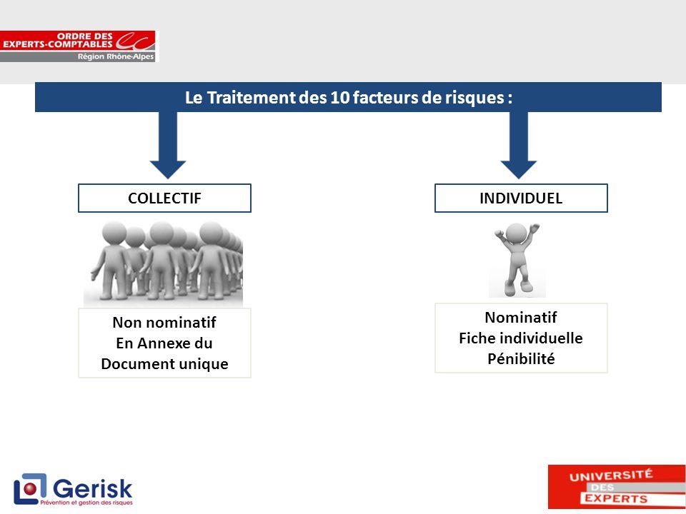 Le Traitement des 10 facteurs de risques :