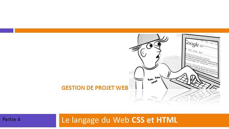 Le langage du Web CSS et HTML