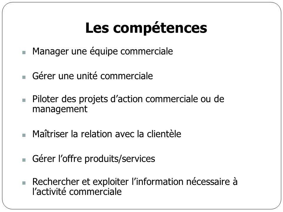 Les compétences Manager une équipe commerciale
