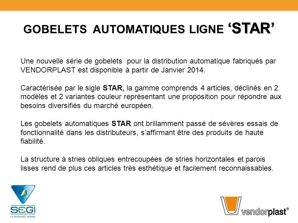 GOBELETS AUTOMATIQUES LIGNE 'STAR'