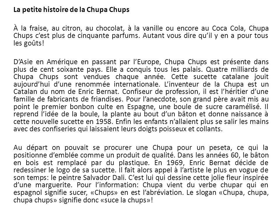 La petite histoire de la Chupa Chups