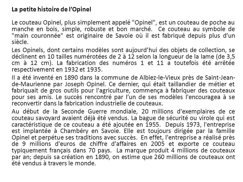 La petite histoire de l'Opinel