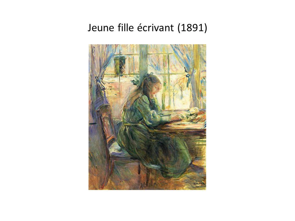 Jeune fille écrivant (1891)