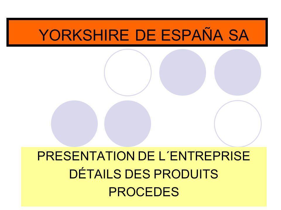 PRESENTATION DE L´ENTREPRISE DÉTAILS DES PRODUITS PROCEDES