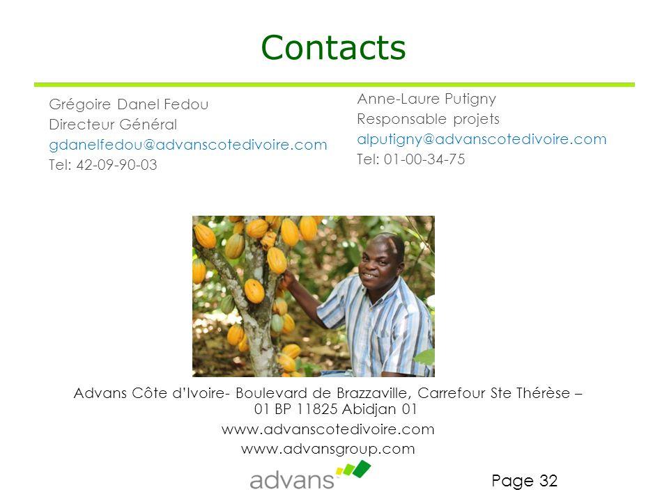 Contacts Anne-Laure Putigny Grégoire Danel Fedou Responsable projets