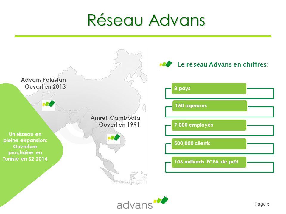 Réseau Advans Le réseau Advans en chiffres: Advans Pakistan