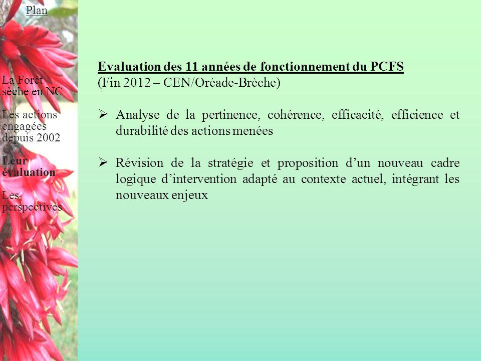 Evaluation des 11 années de fonctionnement du PCFS