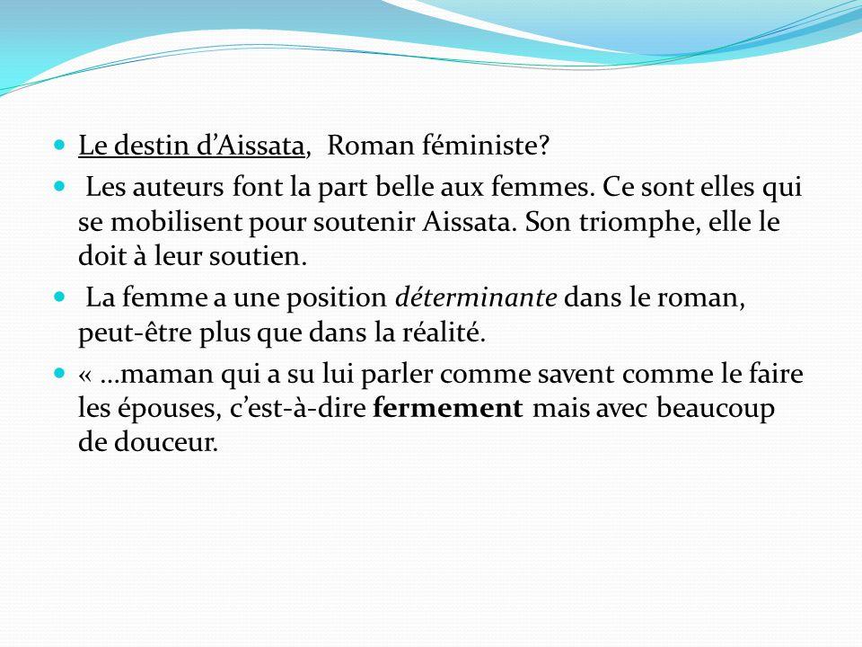 Le destin d'Aissata, Roman féministe