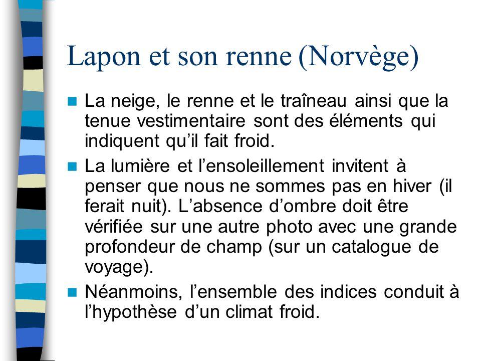Lapon et son renne (Norvège)
