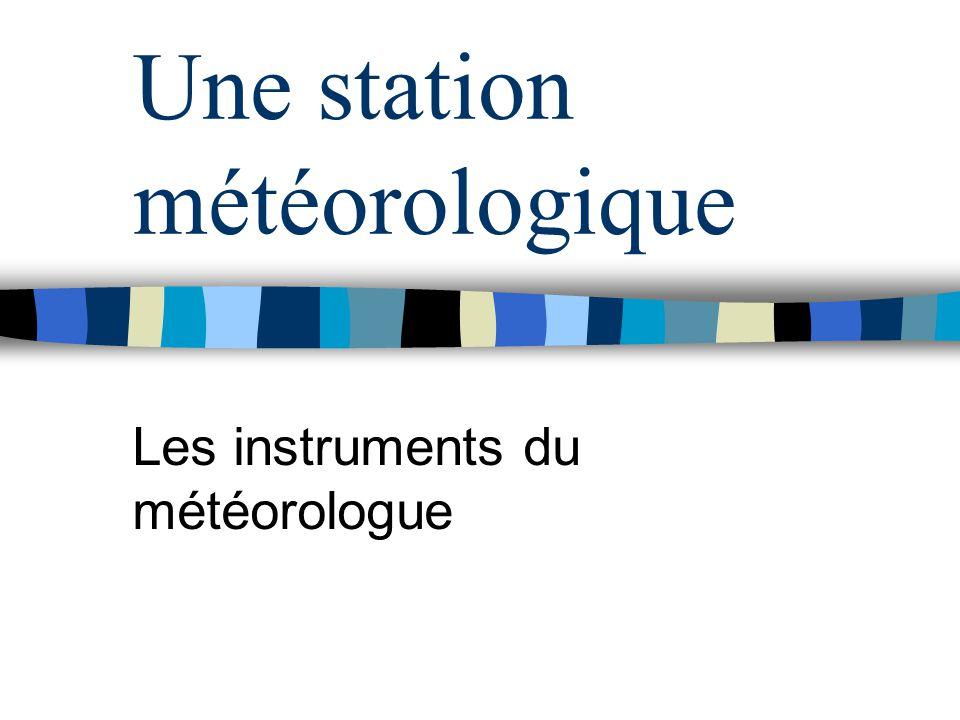 Une station météorologique
